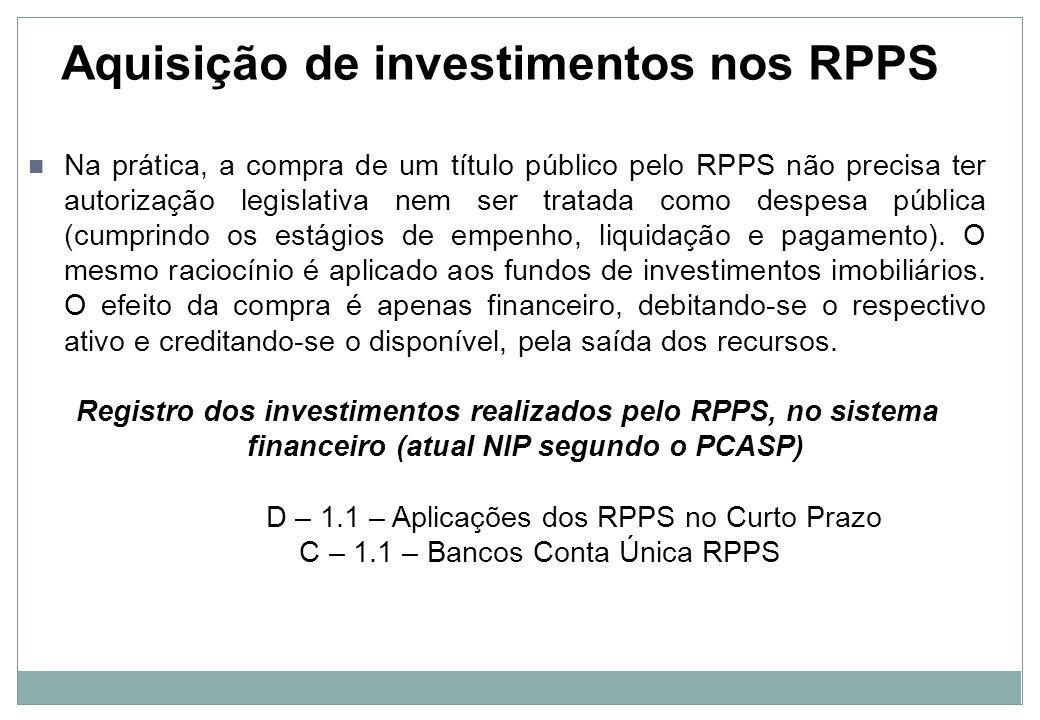Investimentos de longo prazo O novo plano de contas aplicado ao RPPS traz a possibilidade de registrar os ativos financeiros da unidade gestora no longo prazo, para refletir a real intenção do gestor ao adquirir o investimento.