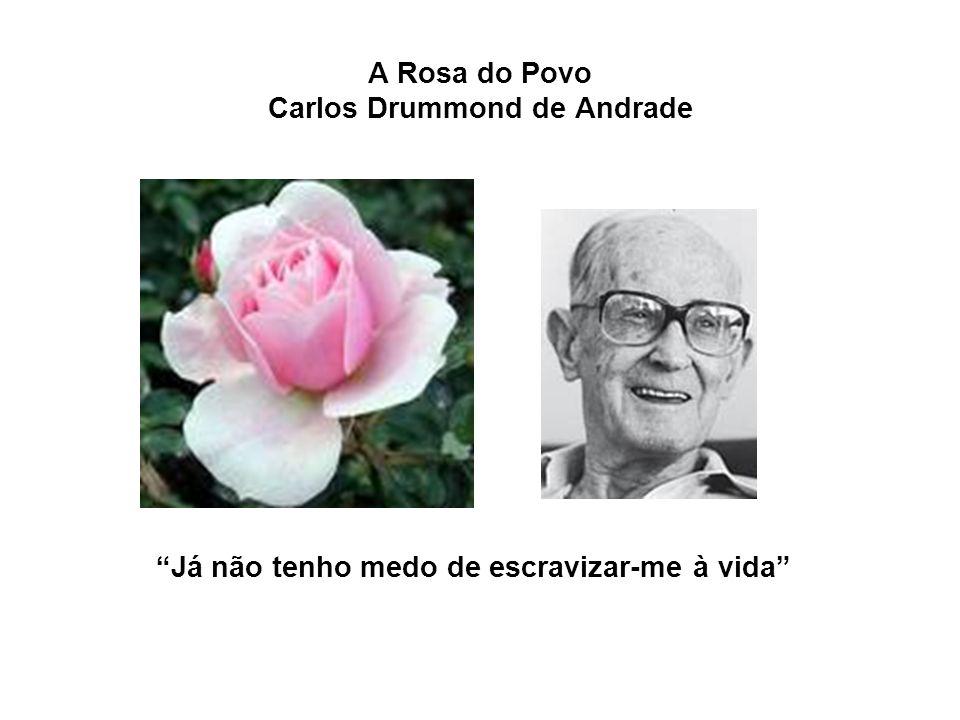 A Rosa do Povo Carlos Drummond de Andrade Já não tenho medo de escravizar-me à vida