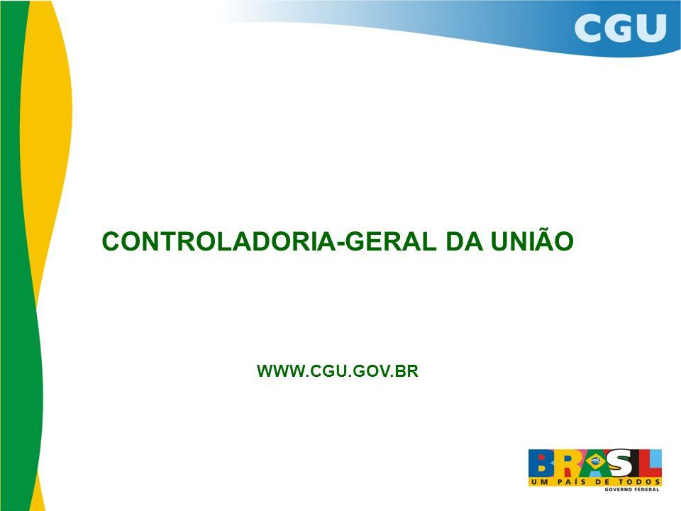 CONTROLADORIA-GERAL DA UNIÃO WWW.CGU.GOV.BR