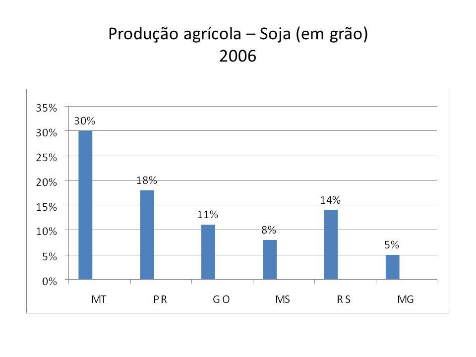 Produção agrícola – Soja (em grão) 2006