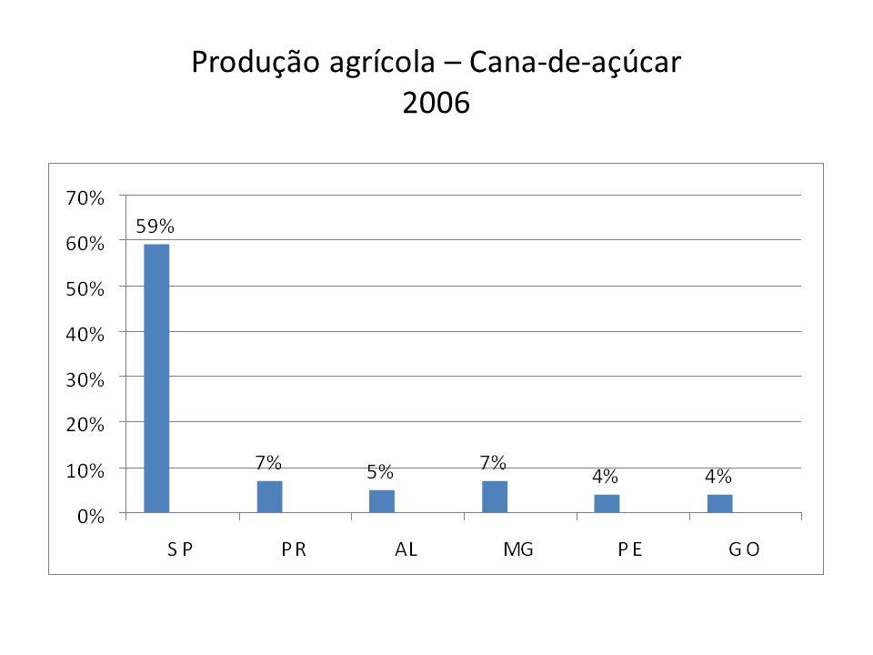 Produção agrícola – Cana-de-açúcar 2006