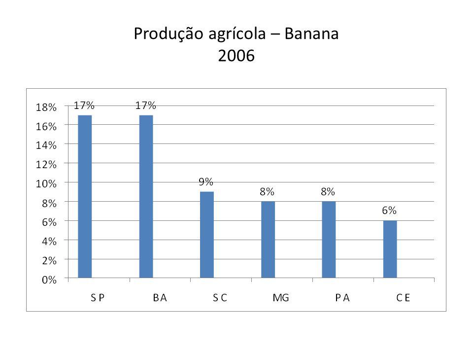 Produção agrícola – Banana 2006