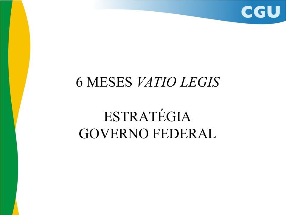 6 MESES VATIO LEGIS ESTRATÉGIA GOVERNO FEDERAL