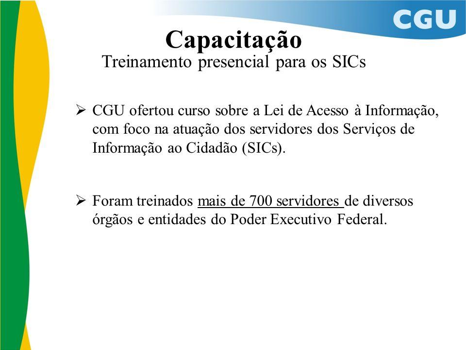 13 CGU ofertou curso sobre a Lei de Acesso à Informação, com foco na atuação dos servidores dos Serviços de Informação ao Cidadão (SICs).