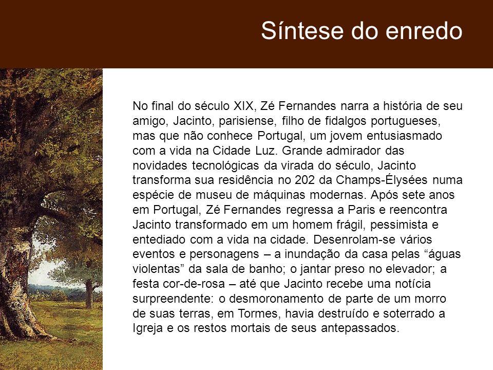 No final do século XIX, Zé Fernandes narra a história de seu amigo, Jacinto, parisiense, filho de fidalgos portugueses, mas que não conhece Portugal,
