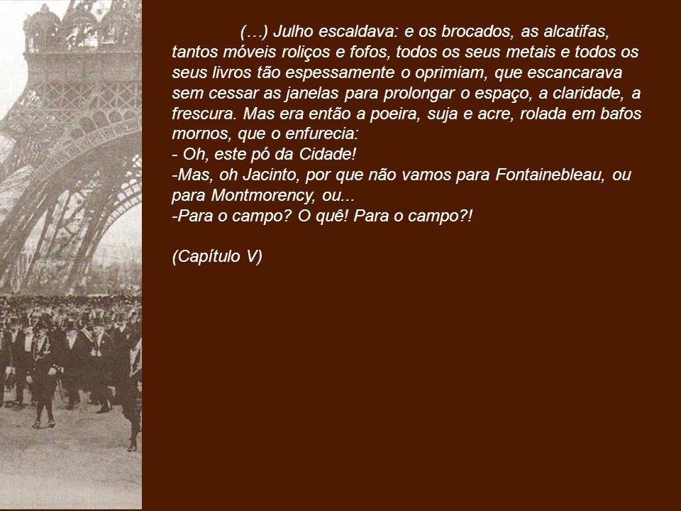 Quando retorna de Portugal, sete anos se passaram, Jacinto tem agora 30 anos e está mudado.
