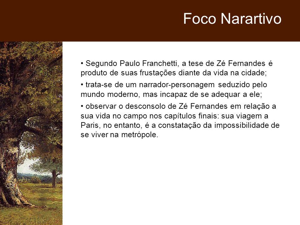 Segundo Paulo Franchetti, a tese de Zé Fernandes é produto de suas frustações diante da vida na cidade; trata-se de um narrador-personagem seduzido pe