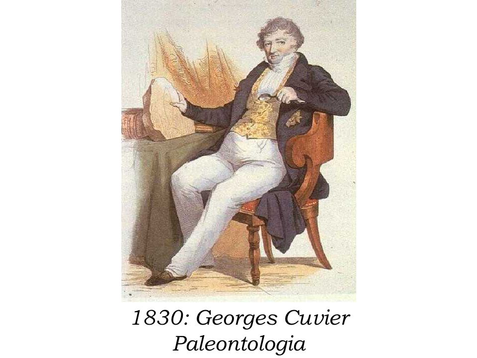 1830: Georges Cuvier Paleontologia