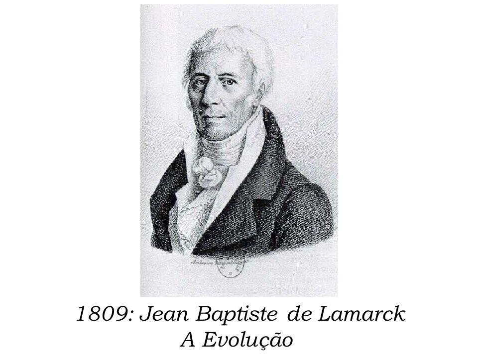 1809: Jean Baptiste de Lamarck A Evolução
