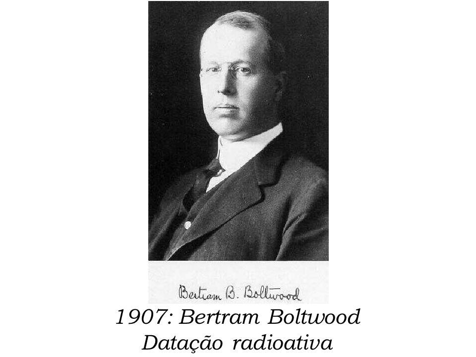 1907: Bertram Boltwood Datação radioativa