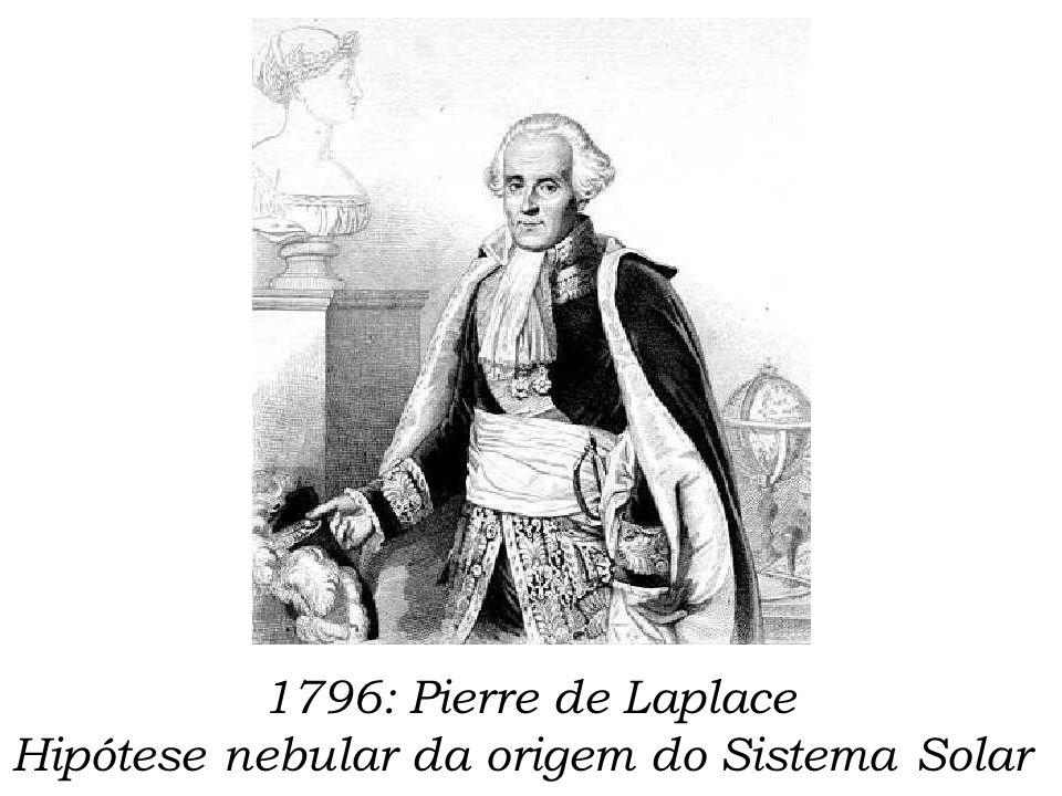 1796: Pierre de Laplace Hipótese nebular da origem do Sistema Solar
