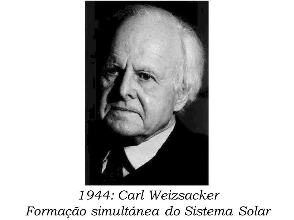 1944: Carl Weizsacker Formação simultánea do Sistema Solar