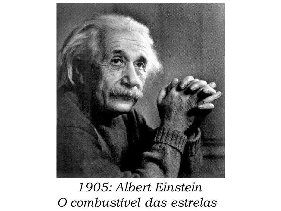 1905: Albert Einstein O combustível das estrelas