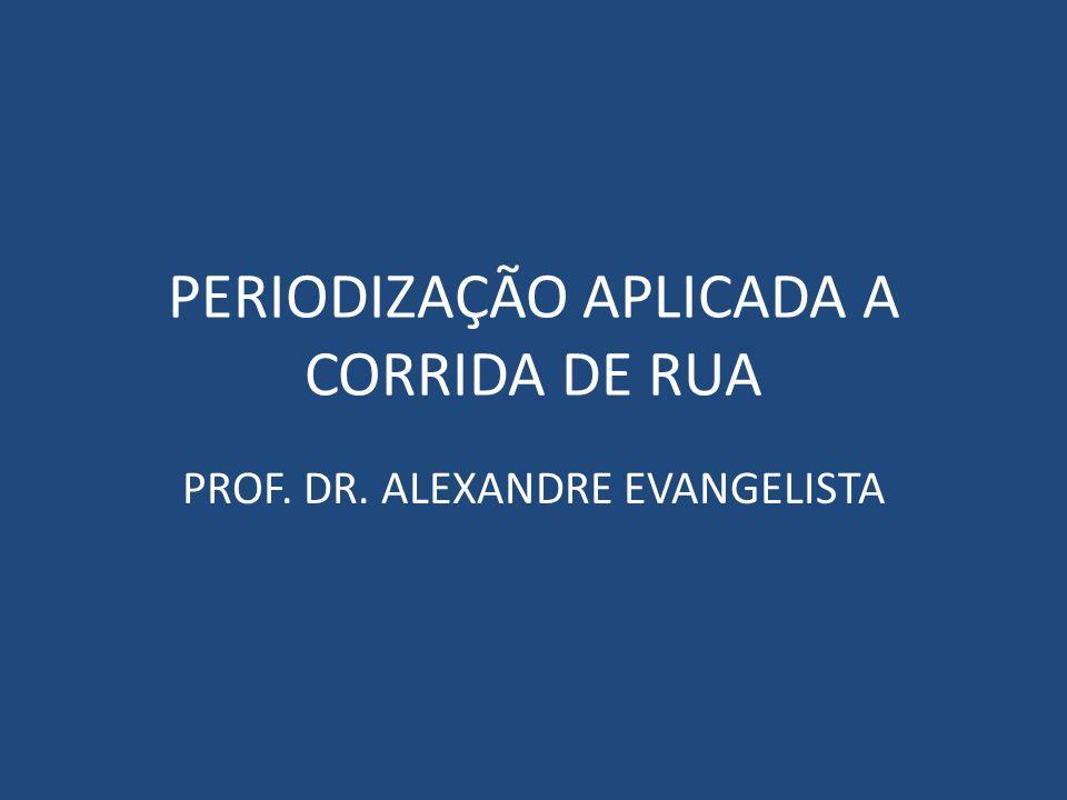 PERIODIZAÇÃO APLICADA A CORRIDA DE RUA PROF. DR. ALEXANDRE EVANGELISTA