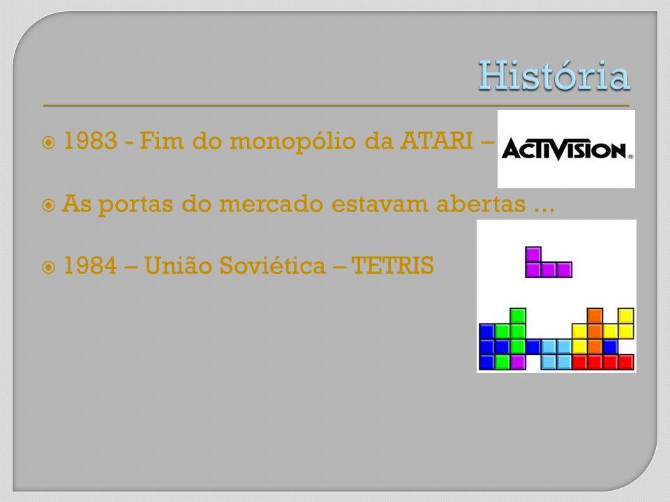 1983 - Fim do monopólio da ATARI – As portas do mercado estavam abertas... 1984 – União Soviética – TETRIS
