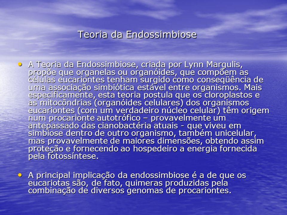 Teoria da Endossimbiose Teoria da Endossimbiose A Teoria da Endossimbiose, criada por Lynn Margulis, propõe que organelas ou organóides, que compõem a