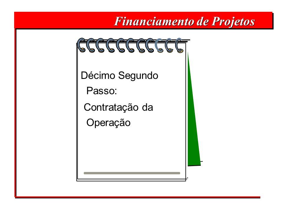 Financiamento de Projetos Décimo Segundo Passo: Contratação da Operação