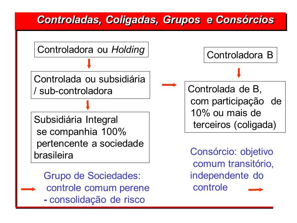 Controladora ou Holding Controlada ou subsidiária / sub-controladora Subsidiária Integral se companhia 100% pertencente a sociedade brasileira Control