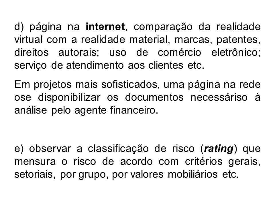 d) página na internet, comparação da realidade virtual com a realidade material, marcas, patentes, direitos autorais; uso de comércio eletrônico; serv
