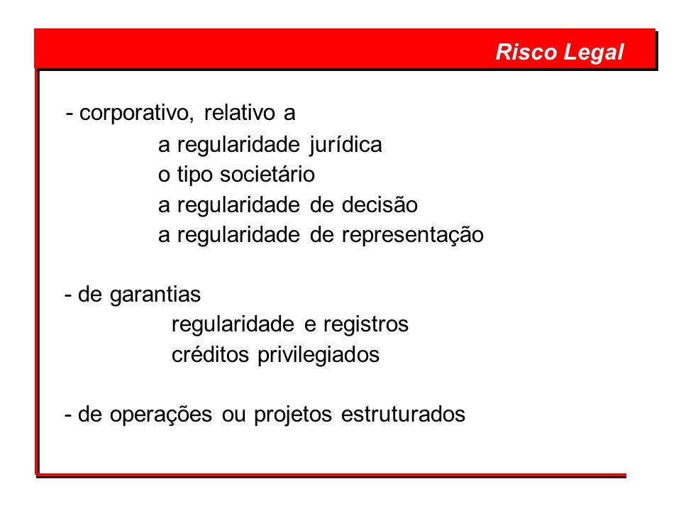 - corporativo, relativo a a regularidade jurídica o tipo societário a regularidade de decisão a regularidade de representação - de garantias regularid