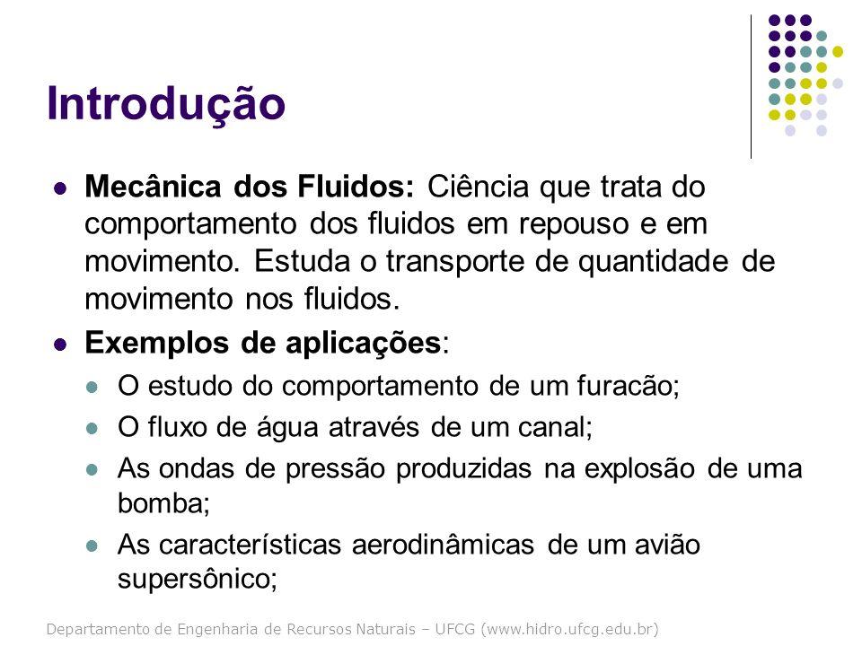 Departamento de Engenharia de Recursos Naturais – UFCG (www.hidro.ufcg.edu.br) Por que estudar Mecânica dos Fluidos.