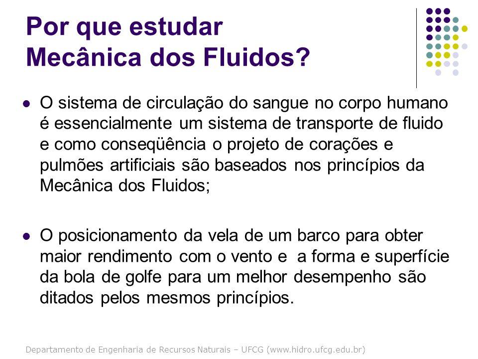 Departamento de Engenharia de Recursos Naturais – UFCG (www.hidro.ufcg.edu.br) Por que estudar Mecânica dos Fluidos? O sistema de circulação do sangue