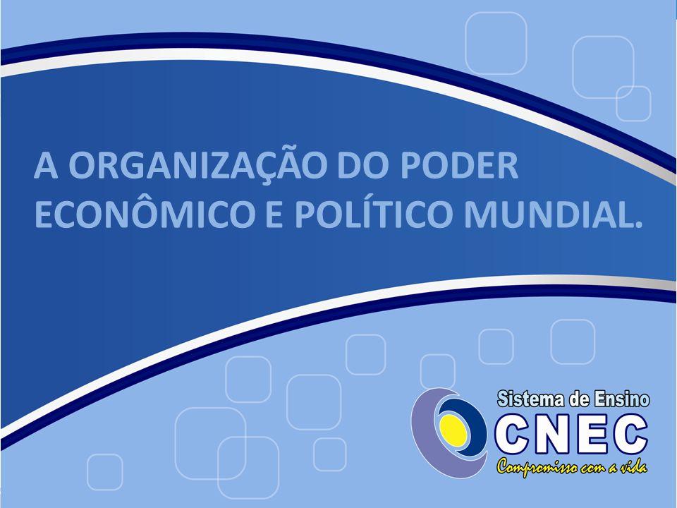 A ORGANIZAÇÃO DO PODER ECONÔMICO E POLÍTICO MUNDIAL.