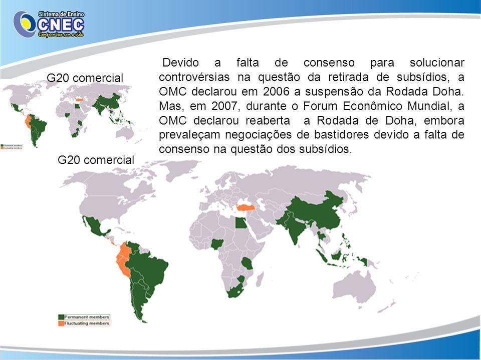 Devido a falta de consenso para solucionar controvérsias na questão da retirada de subsídios, a OMC declarou em 2006 a suspensão da Rodada Doha. Mas,