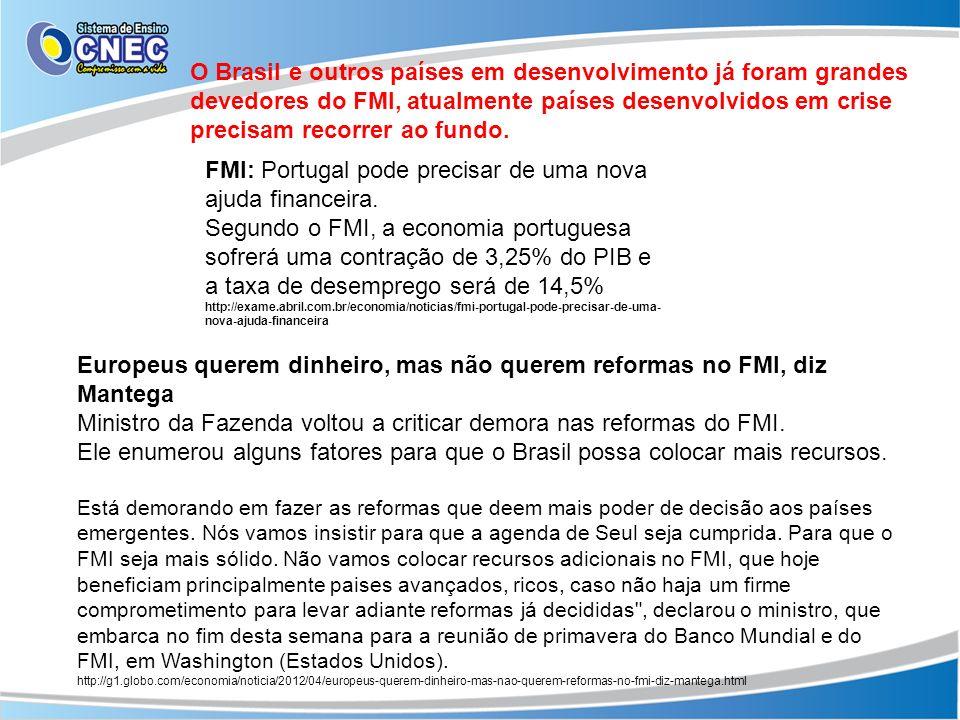 Europeus querem dinheiro, mas não querem reformas no FMI, diz Mantega Ministro da Fazenda voltou a criticar demora nas reformas do FMI. Ele enumerou a