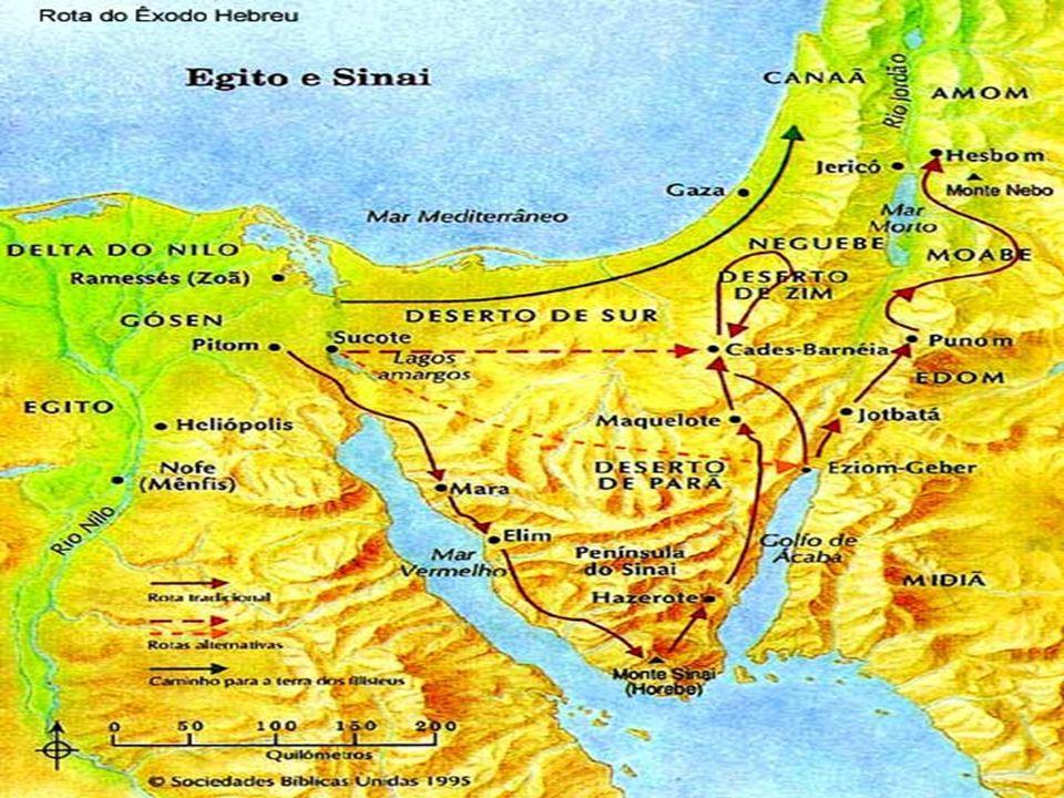 Norte do Golfo de Ácaba.Toda a região era conhecida como Mar Vermelho.