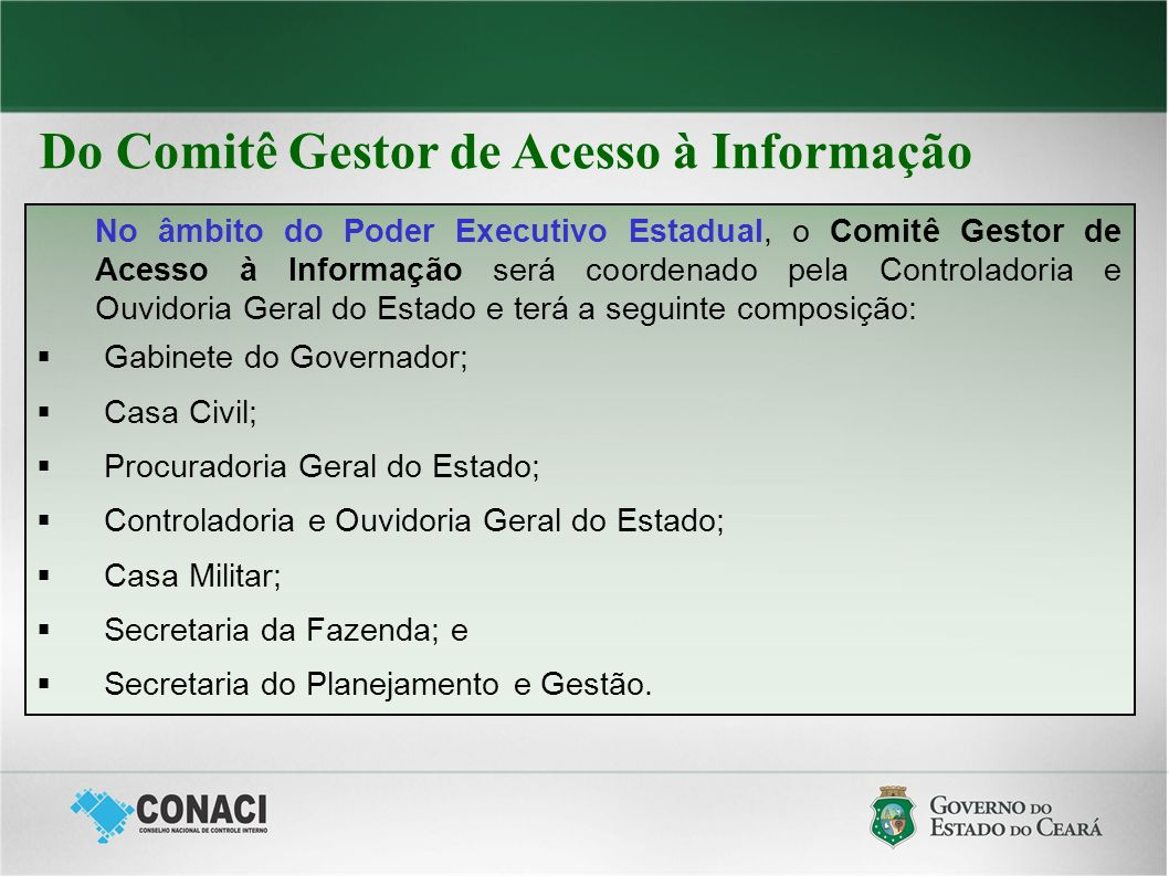 Controladoria e Ouvidoria Geral do Estado – CGE transparencia.ce.gov.br ouvidoria.ce.gov.br