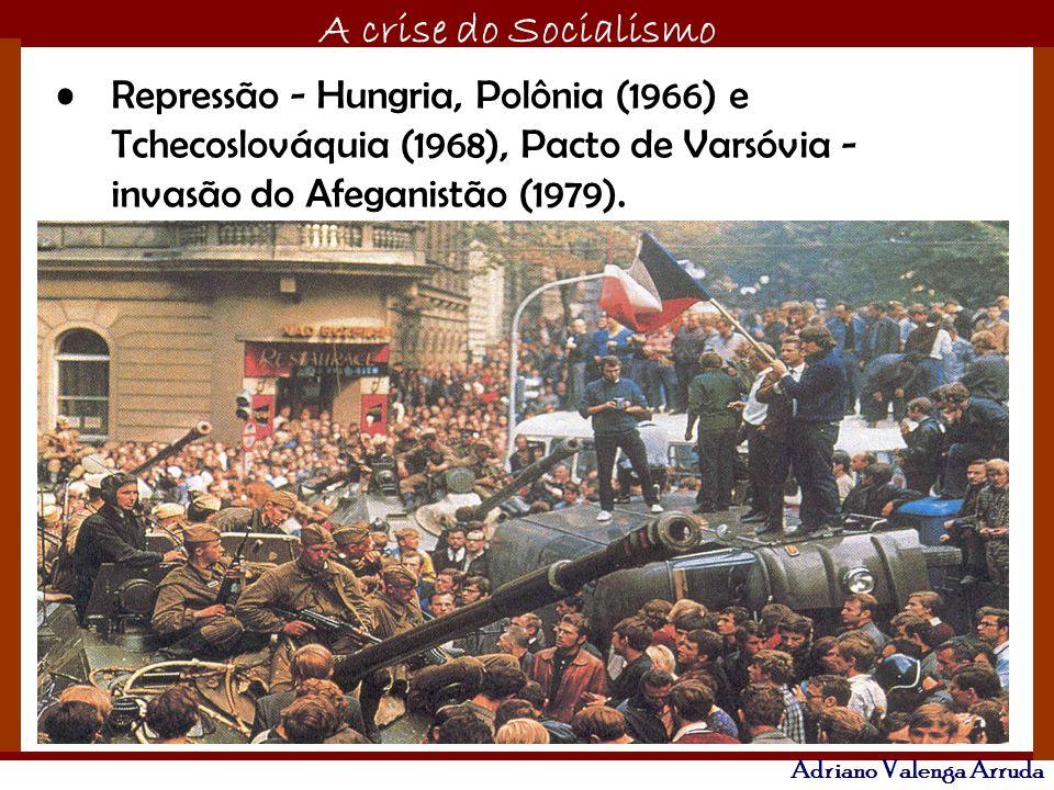 O maior conflito da história A crise do Socialismo Adriano Valenga Arruda Repressão - Hungria, Polônia (1966) e Tchecoslováquia (1968), Pacto de Varsó
