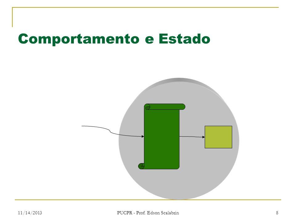 11/14/2013 PUCPR - Prof. Edson Scalabrin 8 Comportamento e Estado