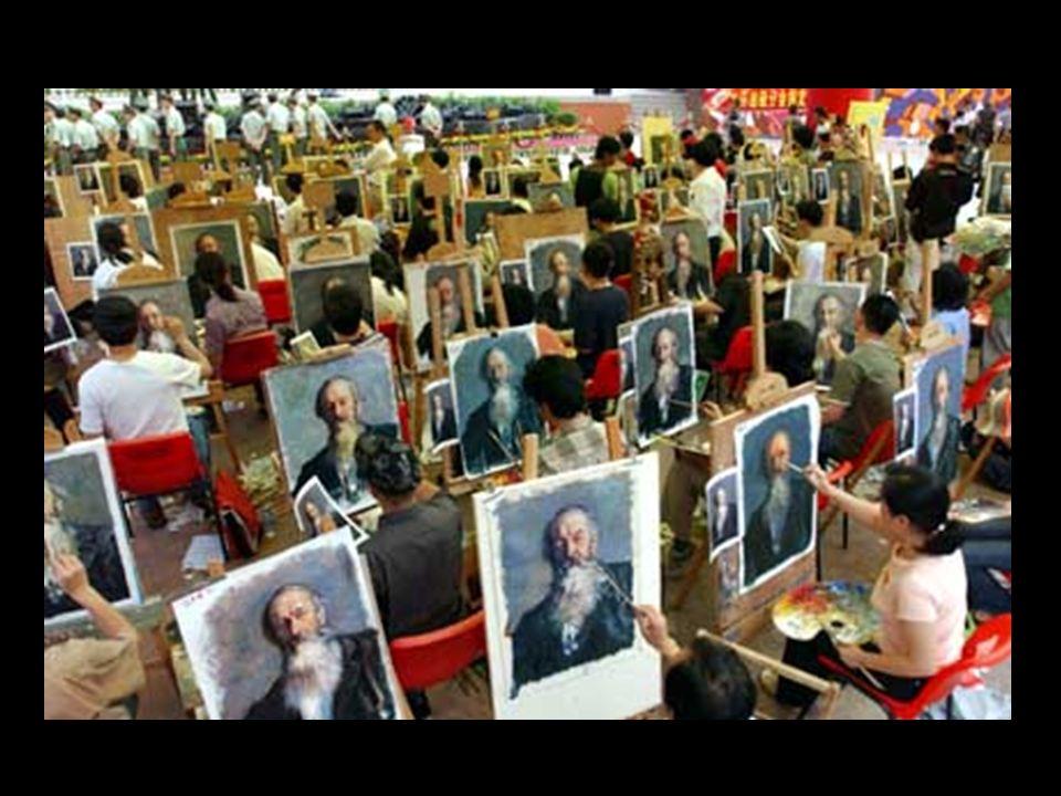 Benvindos a Dafen, un pequeno subúrbio da cidade chinesa de Shenzhen, situada a 30 km. de Hong Kong. Um bairro onde trabalham mais de 10.000 pintores