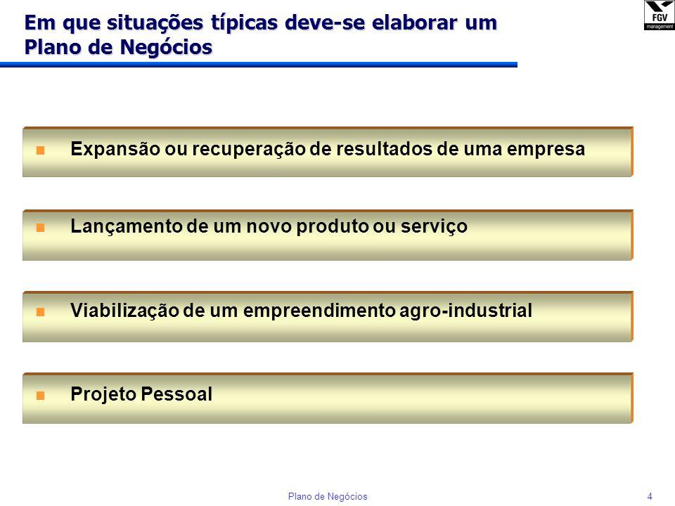 3Plano de Negócios O que é um Plano de Negócios? n É um documento de planejamento que demonstra a viabilidade econômica de uma oportunidade identifica