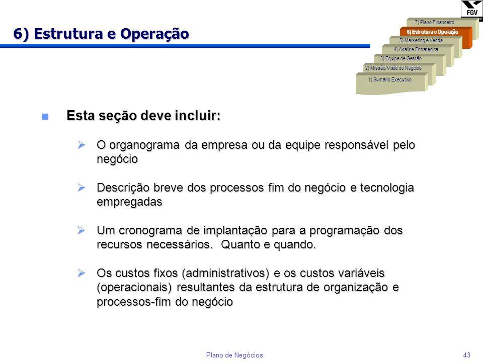 42Plano de Negócios Liderança em Diferenciação Cadeia de valores desenhada para desenvolver atributos pelos quais os clientes estão dispostos a pagar