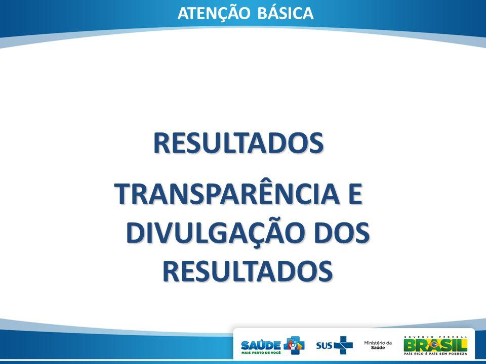 ATENÇÃO BÁSICA RESULTADOS TRANSPARÊNCIA E DIVULGAÇÃO DOS RESULTADOS