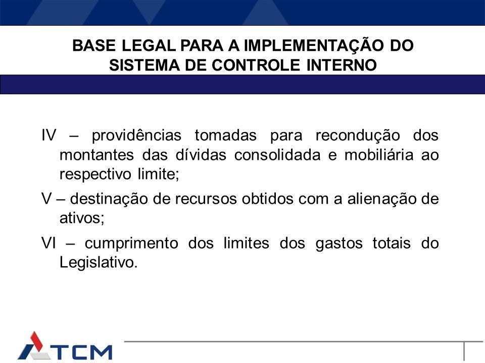 Lei de Responsabilidade Fiscal Art. 59. O Poder Legislativo, diretamente ou com o auxílio dos Tribunais de Contas, e o sistema de controle interno de
