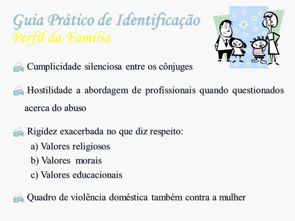 Guia Prático de Identificação Guia Prático de Identificação Perfil da Família Cumplicidade silenciosa entre os cônjuges Cumplicidade silenciosa entre