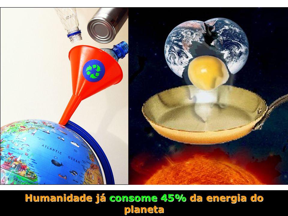 Humanidade já consome 45% da energia do planeta