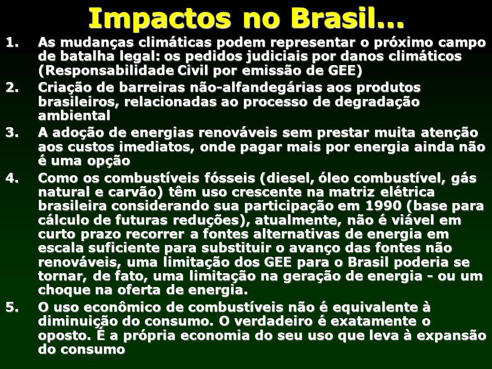 Impactos no Brasil... 1.As mudanças climáticas podem representar o próximo campo de batalha legal: os pedidos judiciais por danos climáticos (Responsa