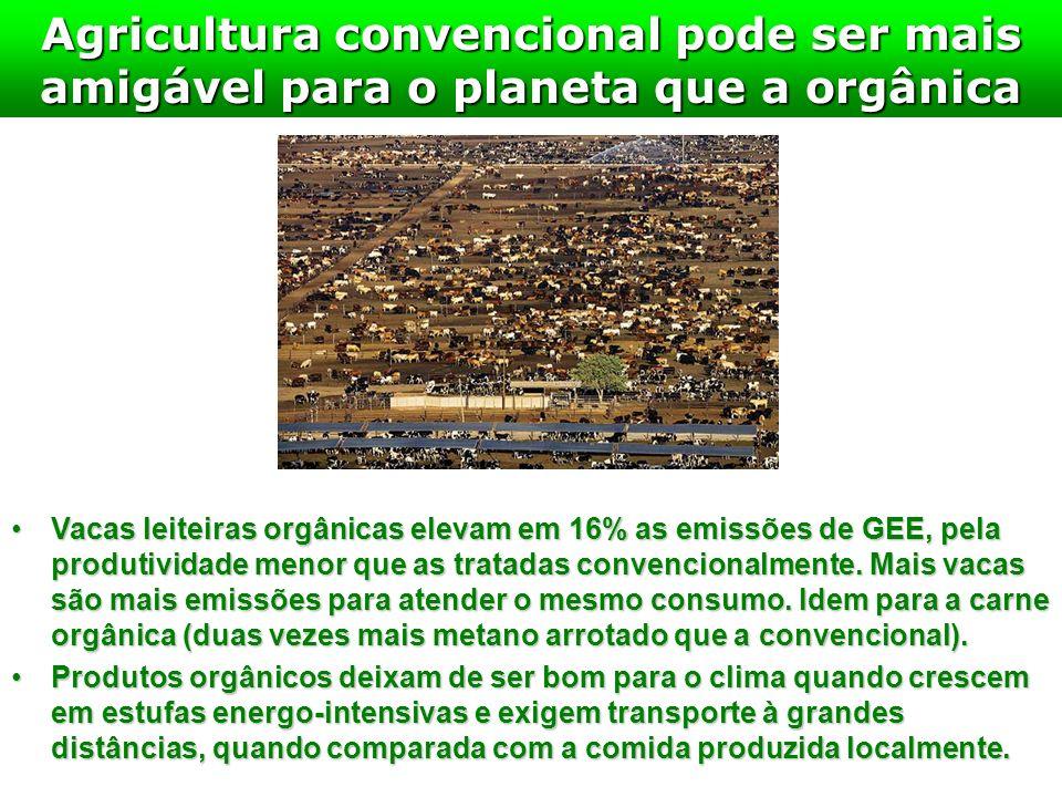 Agricultura convencional pode ser mais amigável para o planeta que a orgânica Vacas leiteiras orgânicas elevam em 16% as emissões de GEE, pela produti