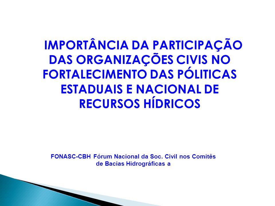 FONASC-CBH Fórum Nacional da Soc.