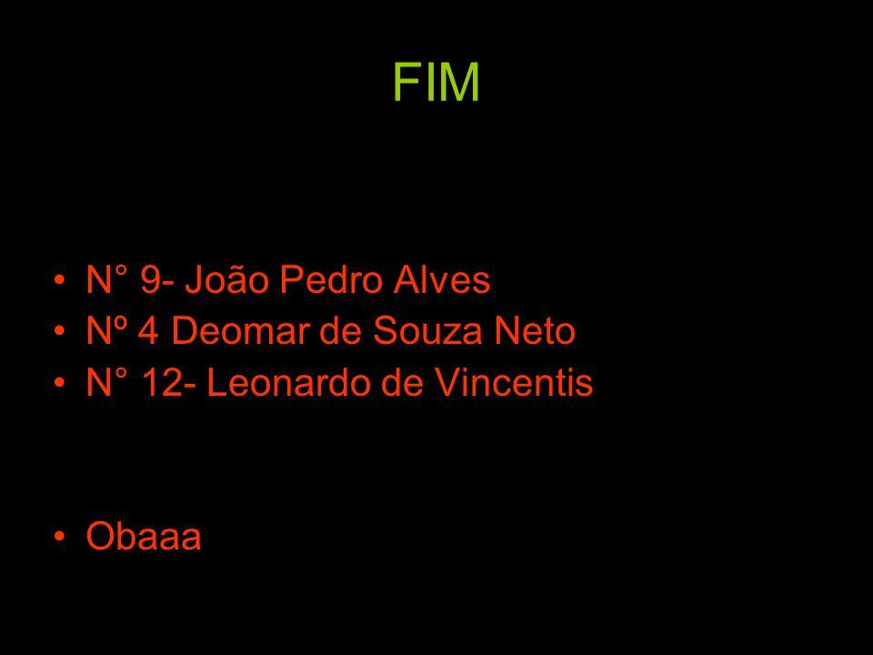 FIM N° 9- João Pedro Alves Nº 4 Deomar de Souza Neto N° 12- Leonardo de Vincentis Obaaa
