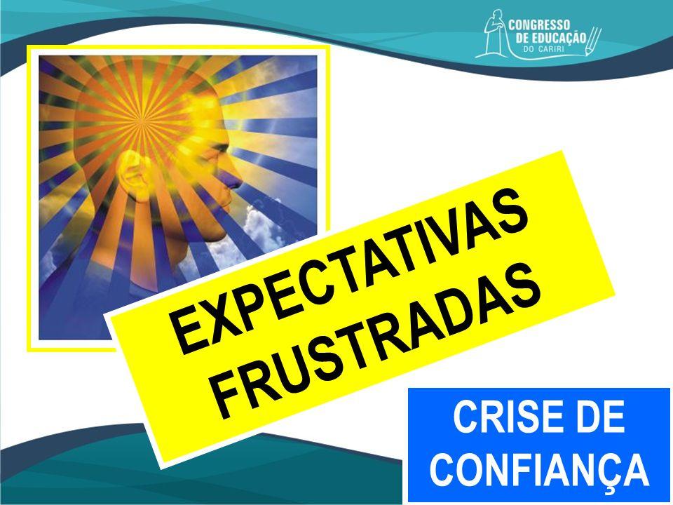 EXPECTATIVAS FRUSTRADAS CRISE DE CONFIANÇA