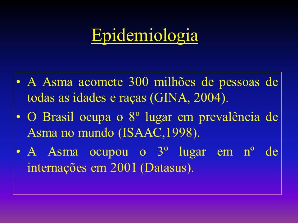 Internações no Brasil (SUS) Janeiro a Dezembro de 2001/05 Ministério da Saúde – Sistema de Informações Hospitalares do SUS PNEUMONIA CÂNCER ASMA DPOC DIABETES AVC IAM (n) 0 100 200 300 400 500 600 700 800 900 Milhares 2001 2005