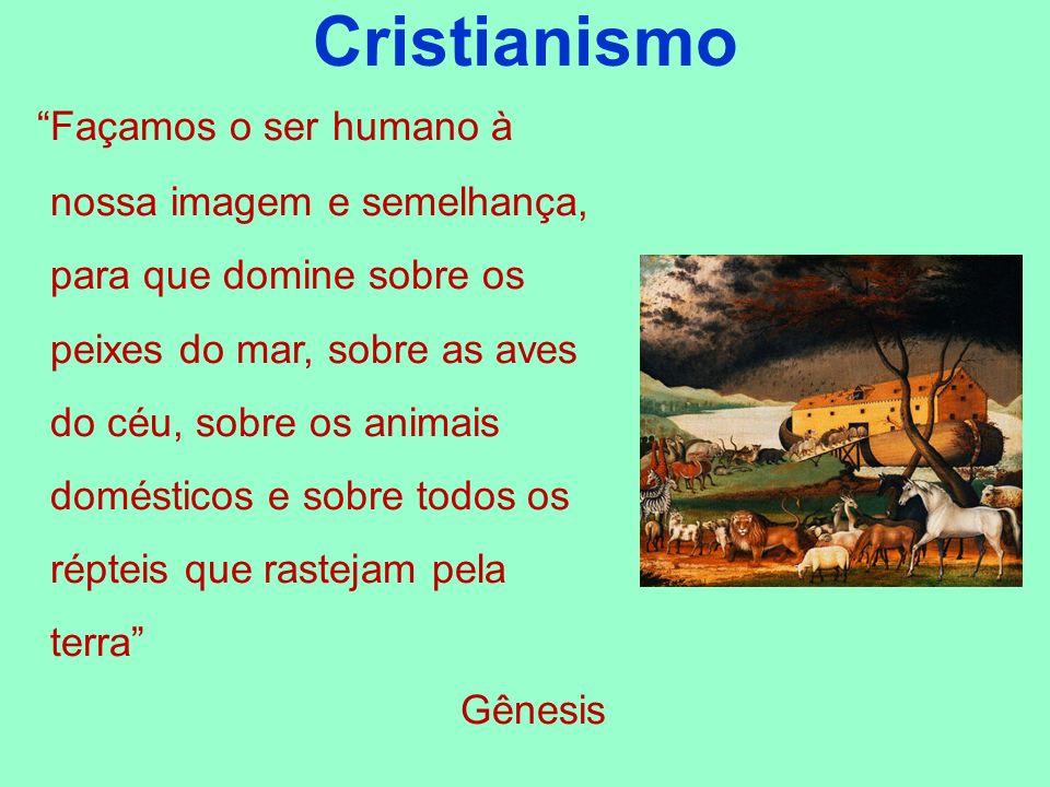Cristianismo Façamos o ser humano à nossa imagem e semelhança, para que domine sobre os peixes do mar, sobre as aves do céu, sobre os animais doméstic