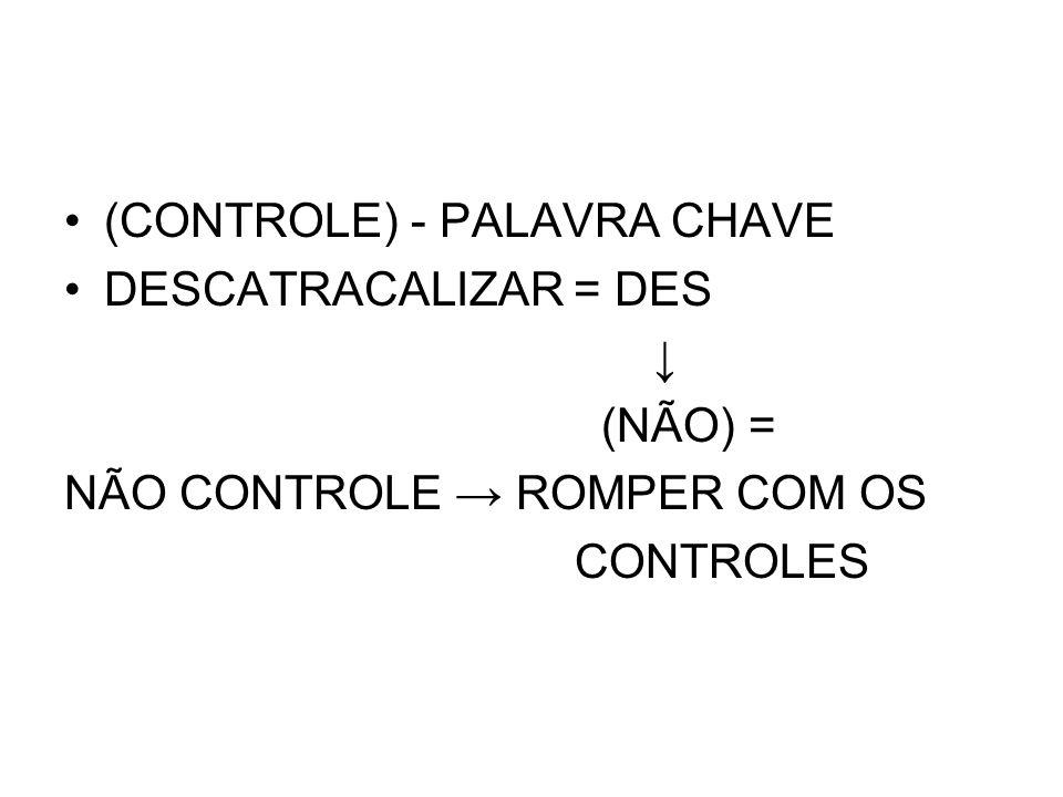 TIPOS DE CONTROLE BIO = VIDA (FÍSICO) POLÍTICO-SOCIAL (IDEOLÓGICO) Controle físico e mental