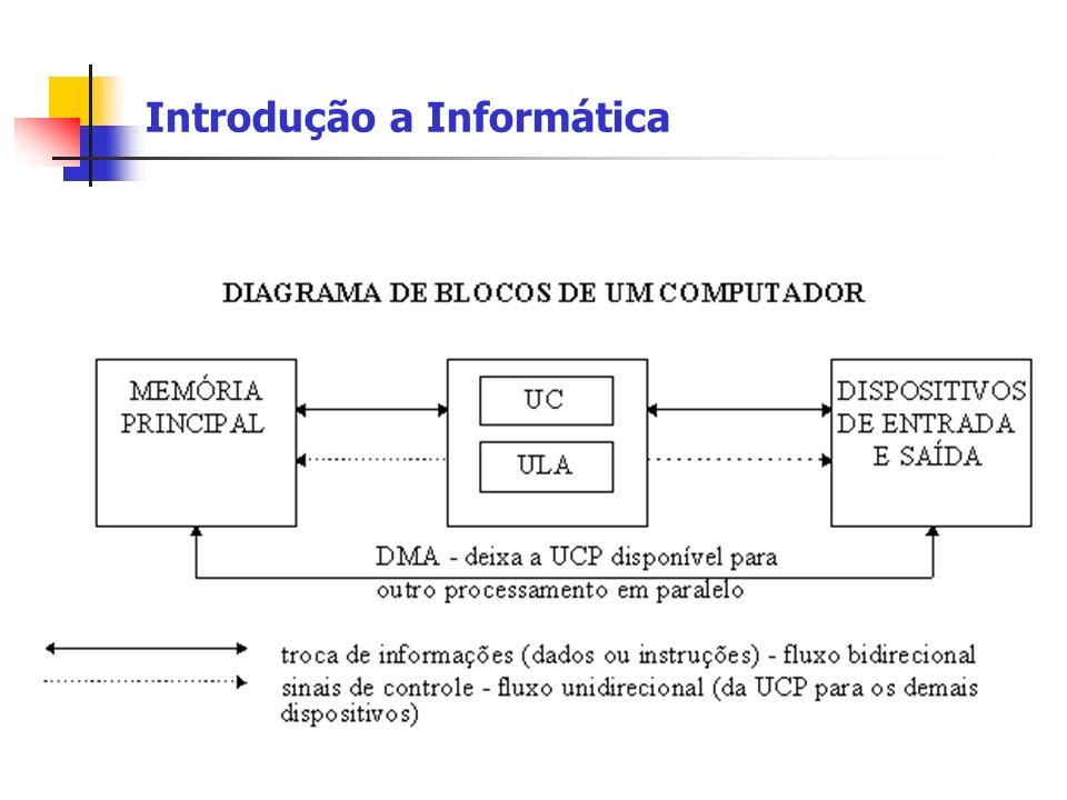 Introdução a Informática Unidades de Saída de Dados Servem para efetuar a transformação de dados que estão na memória do computador (em formato binário) para uma forma acessível e manipulável ao ser humano (números, letras, sons, imagens).