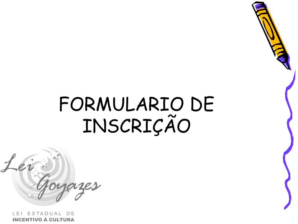 FORMULARIO DE INSCRIÇÃO